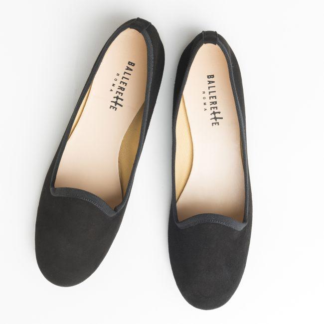 Slippers donna in camoscio nere