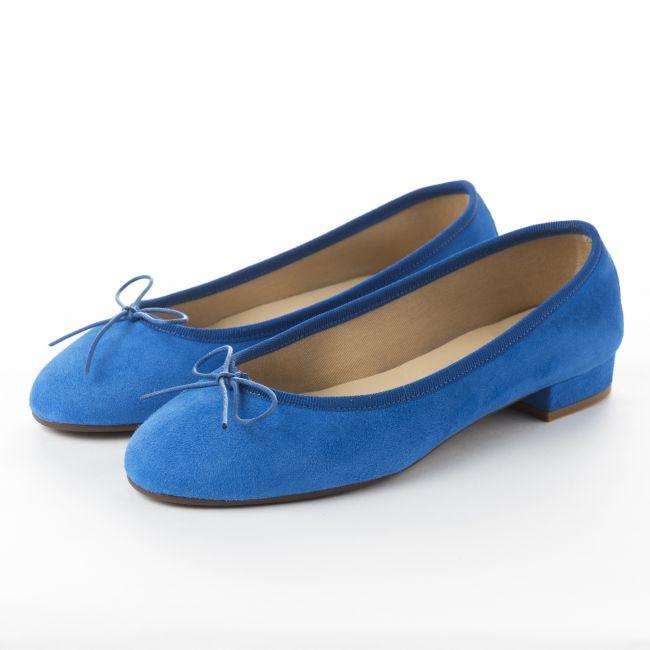 Bluette suede medium heel ballet flats