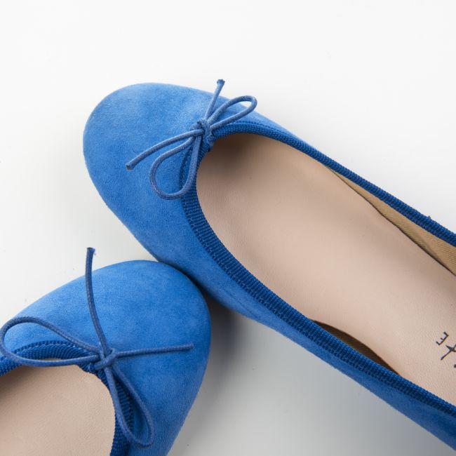 Royal blue suede ballet flats