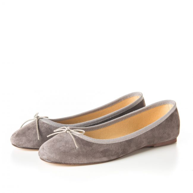 Taupe suede ballet flats