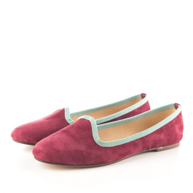 Slippers donna in camoscio bordeaux